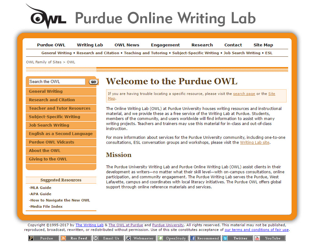 owl writing lab mla Mla (modern language association) the purdue owl family of sites the writing lab and owl at purdue and purdue u, 2008 web 23 apr 2008 felluga, dino.