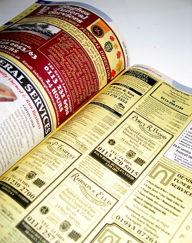 yellow pages, obsolete in the era of content marketing