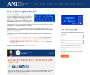 Drew McClellan's Build a Better Agency Podcast Thought Leadership Content