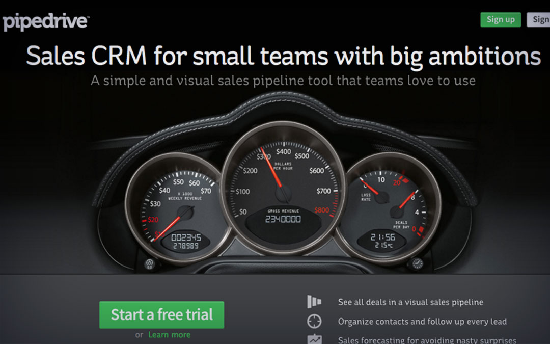 Pipedrive provide act on it now advice for small businesses