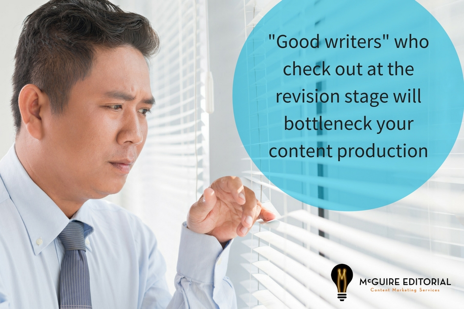 Don't hire freelance web content writers who disappear at the revision stage