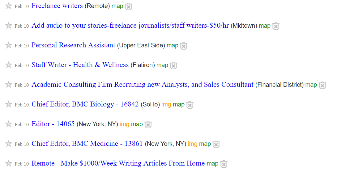 craigslist job ads for writers - hiring freelance web content writers