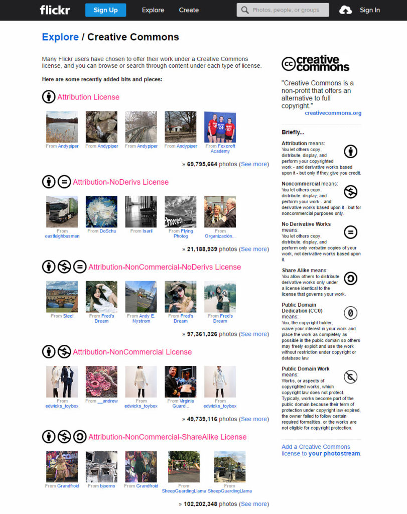 Online marketing tools for nonprofits, flickr photo sharing site screenshot