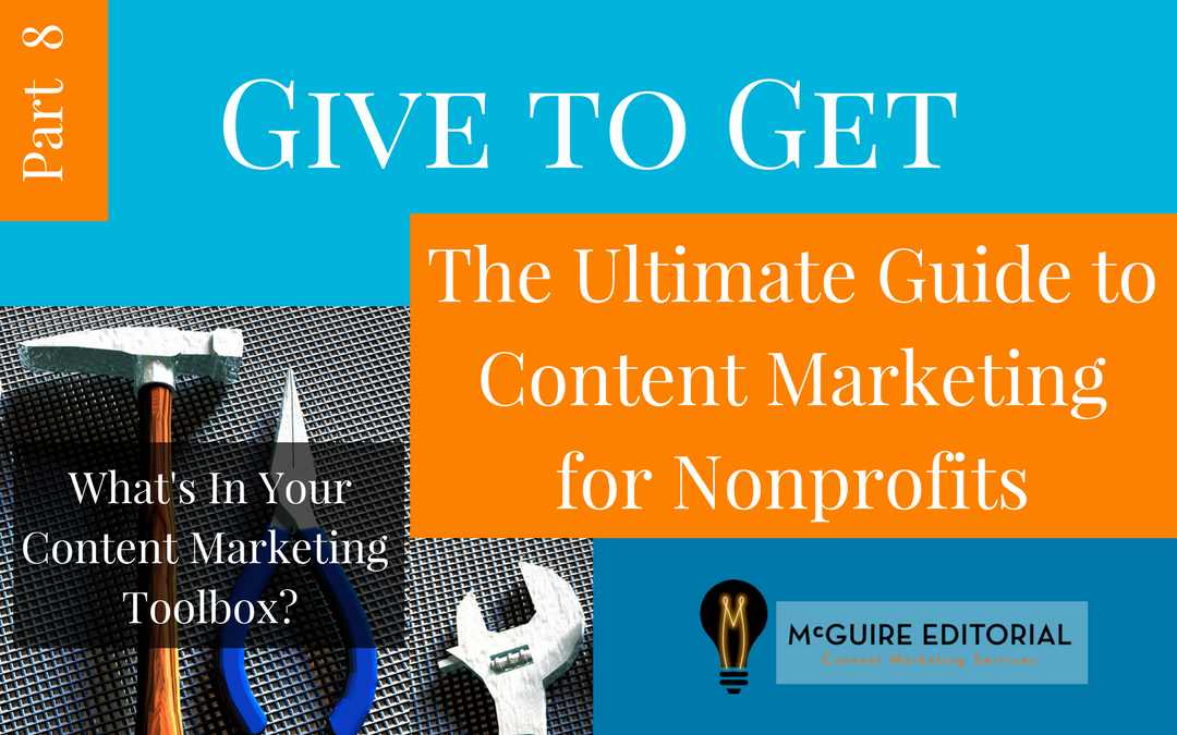 Header for series on nonprofit marketing, part 8
